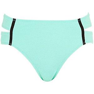 Light green textured bikini bottoms