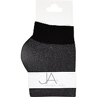 Black Jonathan Aston lurex ankle socks