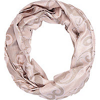 Pink baroque jacquard snood