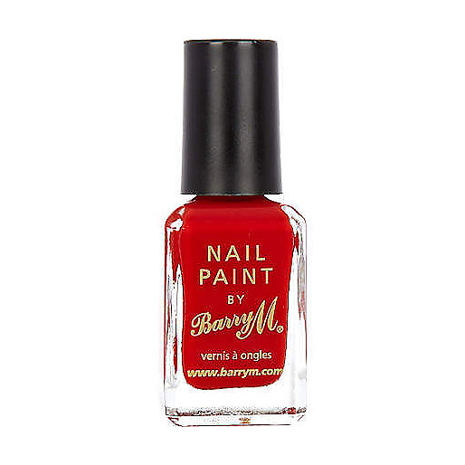 Bright red Barry M nail polish