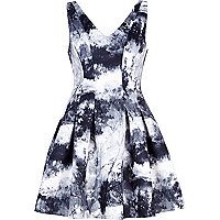 Black forest print scuba dress