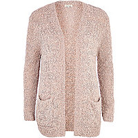 Pink sparkle fluffy cardigan
