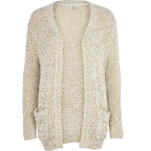 White sparkle fluffy cardigan