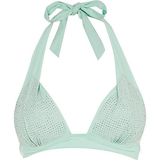 Light green heatseal bikini top