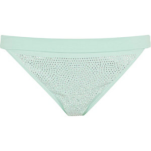 Light green heatseal bikini bottoms