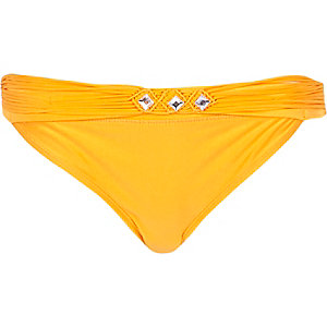 Orange bikini brief