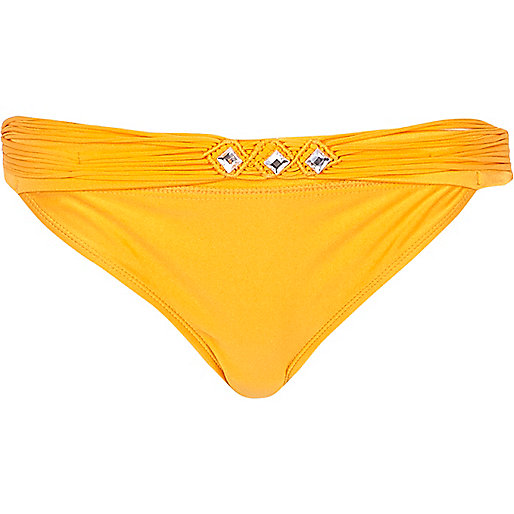 Orange bikini brief
