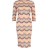 Pink Chelsea Girl chevron knit dress