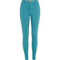 Teal Lana superskinny jeans