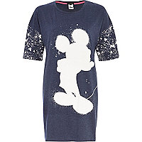 Navy Mickey Mouse sleep tee