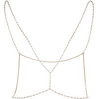 Gold tone embellished thin body harness