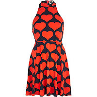 Red Chelsea Girl heart racer front dress