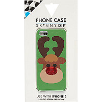 Green Skinnydip Reindeer iPhone 5 case
