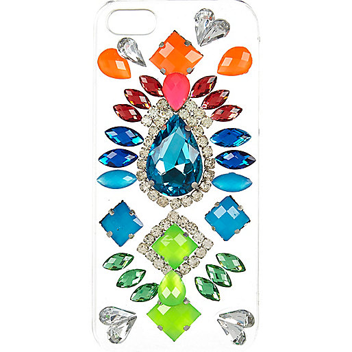 Clear Skinnydip gem stone iPhone 5/5S case
