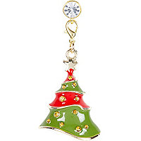 Green Christmas tree iPhone charm