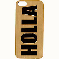 Gold Holla print iPhone 5 case
