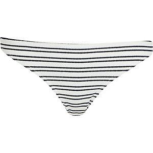 Navy textured stripe bikini bottoms
