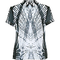 Black Georgia Hardinge abstract print shirt