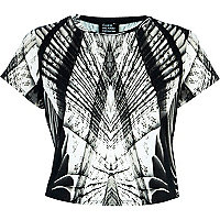 Black Georgia Hardinge abstract crop top