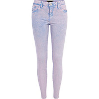Purple acid wash Amelie superskinny jeans