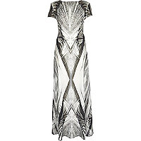 Black Georgia Hardinge abstract maxi dress