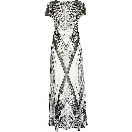 Black Georgia Hardinge abstract maxi dress