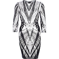 Black Georgia Hardinge abstract print dress
