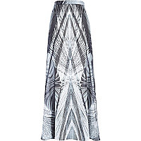 Black Georgia Hardinge abstract maxi skirt