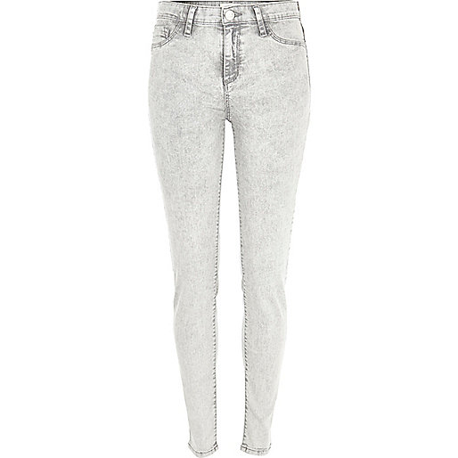 Light grey acid wash Molly jeggings