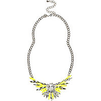Fluro yellow statement necklace