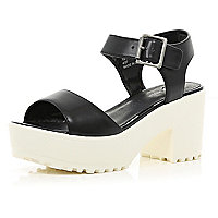 Black cleated sole sandals