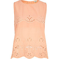 Coral cut out shell top