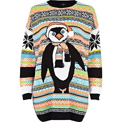 Black Penguin fair isle jumper dress