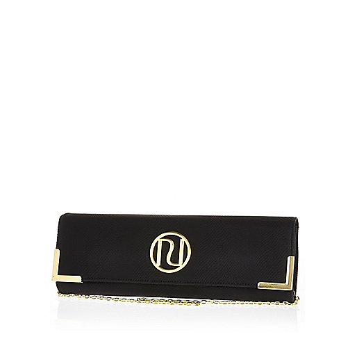Black slim clutch bag