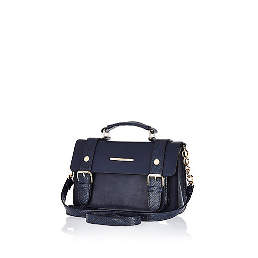 Navy mini satchel