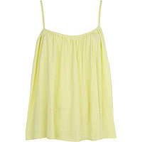Light yellow babydoll cami top