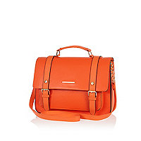 Orange large satchel