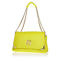 Yellow quilted underarm bag