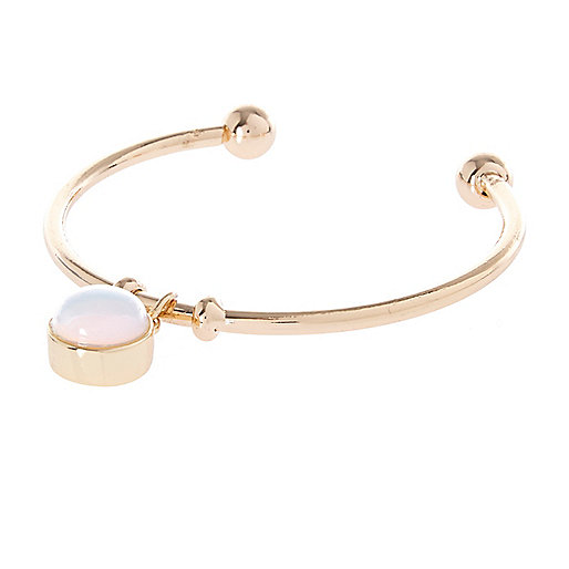 White semi-precious Moonstone bangle