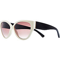 Cream chunky cat eye sunglasses