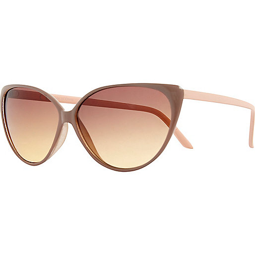 Light brown cat eye sunglasses
