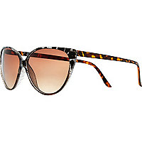 Brown glitter cat eye sunglasses