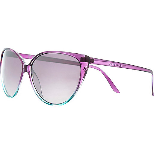 Purple ombre cat eye sunglasses