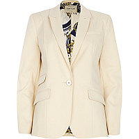 Cream cotton blazer