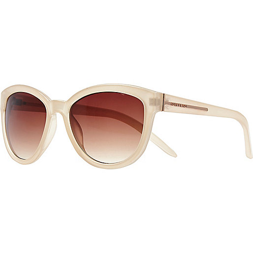 Cream oversized sunglasses