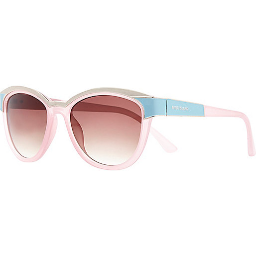 Light pink metal trim sunglasses
