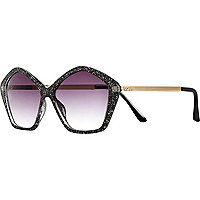 Black glitter star sunglasses