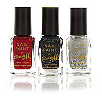 Barry M Christmas glitter nail varnish set