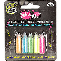 Nail Art electric neon nail glitter pack