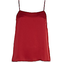 Dark red cami top